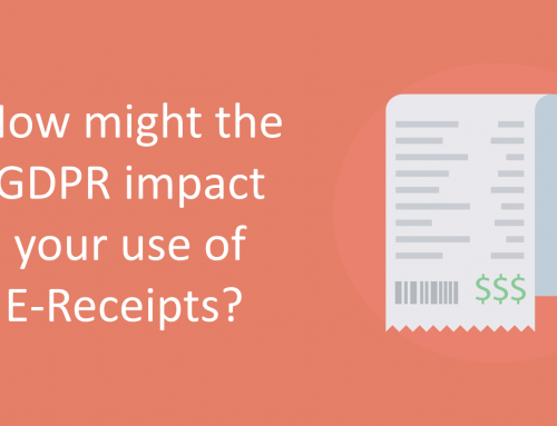 How might the GDPR impact your use of E-Receipts?