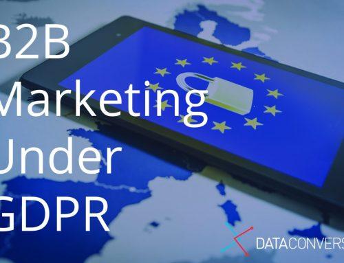 B2B Marketing under GDPR